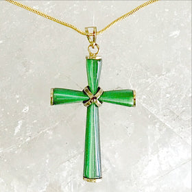 Fiber Optic Cross Pendant | New Earth Gifts