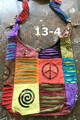 Cross Body Shoulder Bag - Peaceful Symbols Design - New Earth Gifts
