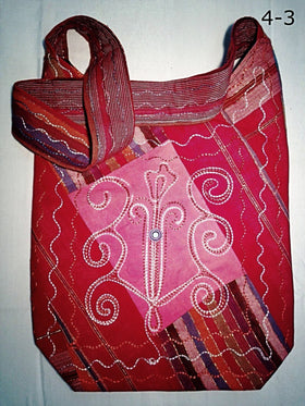 Cross Body Shoulder Bag - Swirl Embroidery Design - New Earth Gifts
