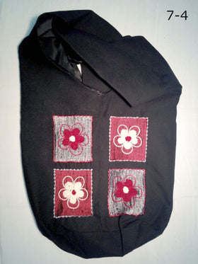 Cross Body Shoulder Bag with Flower Appliques - New Earth Gifts