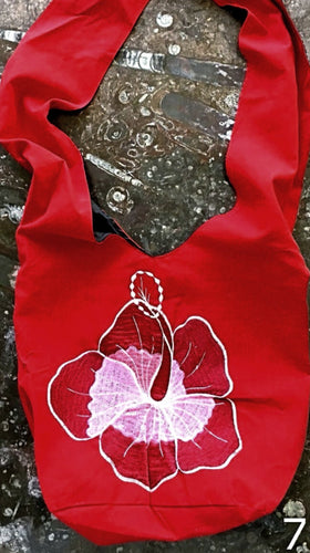 Cross Body Shoulder Bag - Hibiscus Flower Design - New Earth Gifts