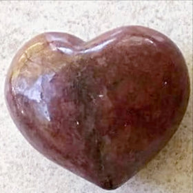 Rhodonite Gemstone Heart - New Earth Gifts and Beads