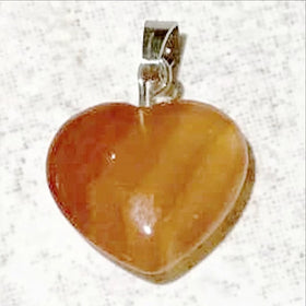 Carnelian Heart Charm - New Earth Gifts