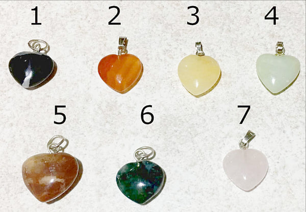 Gemstone Heart Charms-16mm Gemstone Hearts - New Earth Gifts and Beads