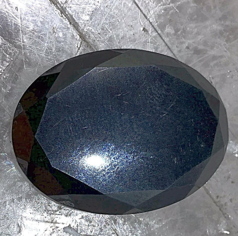 Hematite Cabochon with Faceted Edge - New Earth Gifts