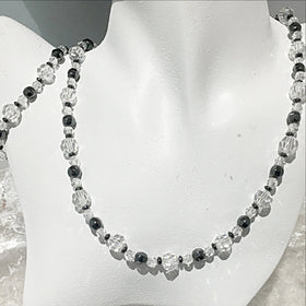 Crystal and Hematite Beaded Necklace and Bracelet - New Earth Gifts