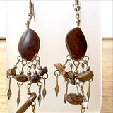Mahogany Obsidian Boho Style Gemstone Earrings | New Earth Gifts