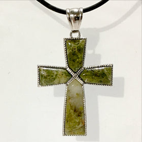 Unakite Cross Pendant | New Earth Gifts