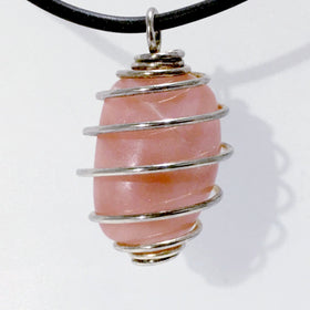 Pink Opal Spiral Cage Pendant | New Earth Gifts