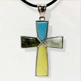 Multi-Stone Gemstone Cross | New Earth Gifts