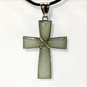 Aventurine Cross Pendant | New Earth Gifts