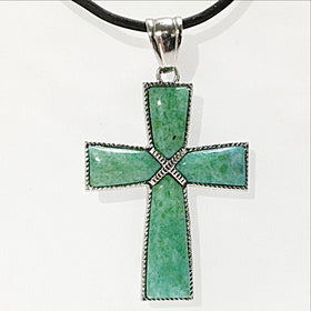 Chrysocolla Gemstone Cross | New Earth Gifts