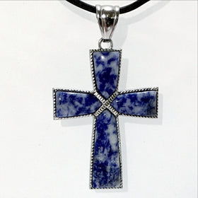 Sodalite Cross Pendant | New Earth Gifts