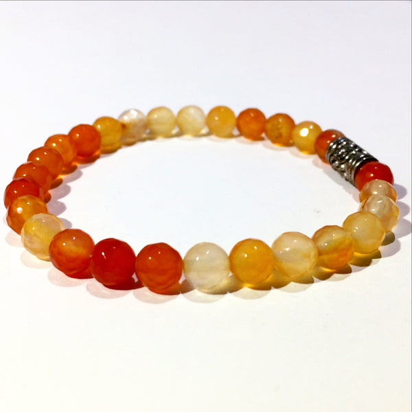 Red Agate Faceted Power Bracelet for Clarity-6mm | New Earth Gift