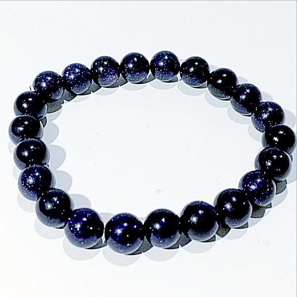 Blue Goldstone Power Bracelet for a New Beginning-8mm | New Earth Gifts