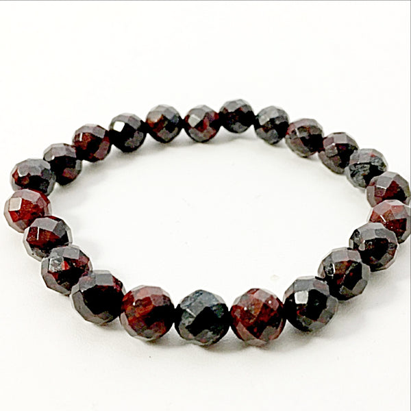 Breciated Jasper Faceted Power Bracelet for Clarity and Honesty-8mm | New Earth Gifts