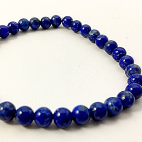 Lapis Power Bracelet for Wisdom and Guidance-6mm | New Earth Gifts