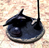 Clay Incense Holder with Incense - Dolphin Style New Earth Gifts