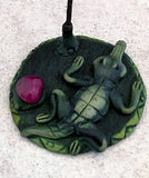 Clay Incense Holder with Incense - Gator Style New Earth Gifts