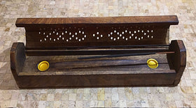 Incense Holder Polish Wood Coffin Style - New Earth Gifts