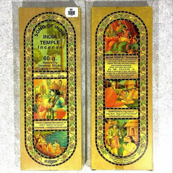 India Temple Incense, Song of India | New Earth Gifts