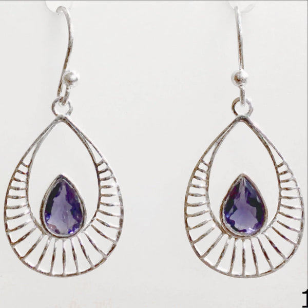 Iolite earrings - New Earth Gifts