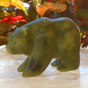 Jade Bear Carving For Sale New Earth Gifts