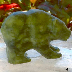 Jade Bear Figurine - Animal Carvings For Sale New Earth Gifts