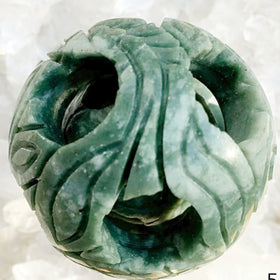 Carved Jade Happiness Sphere - New Earth Gifts