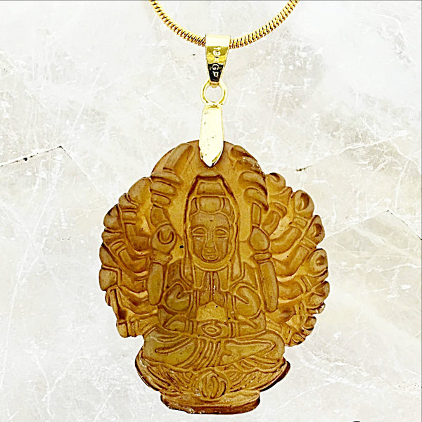 Jade Thousand Armed Buddha Pendant-New Earth Gifts