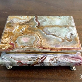 Onyx Gemstone Jewelry Box - New Earth Gifts
