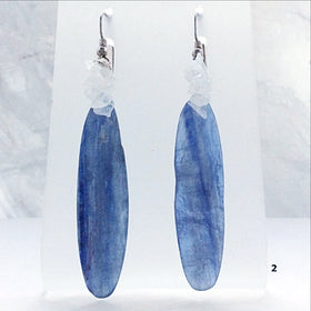 Kyanite Blade Earrings with Moonstone Chips - New Earth Gifts