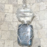 Kyanite and Double Terminated Quartz Point Pendant - New Earth Gifts