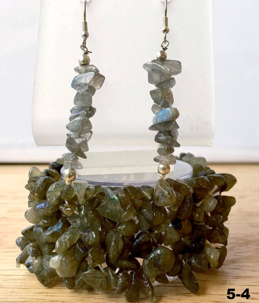 Labradorite Bracelet Multi Strand with Matching Earrings - New Earth Gifts