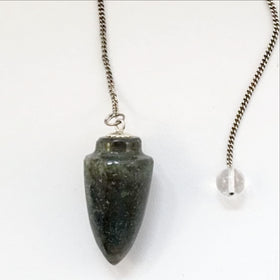 Labradorite Cone Pendulum - New Earth Gifts