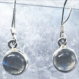 Sterling Labradorite Round Drop Earrings - New Earth Gifts