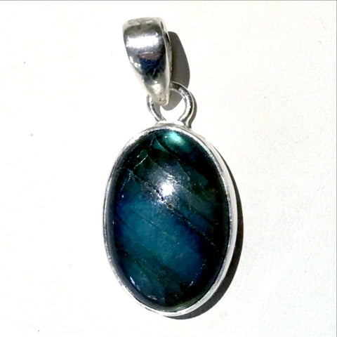 "Deep Blue Labradorite Sterling Silver Pendants. Hauntingly beautiful Labradorite set in Sterling Silver, 1.5"" long. Choose the one that connects with you! - New Earth Gifts"