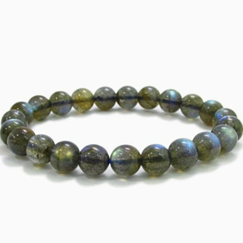Labradorite Power Bracelet for Protection-6mm - New Earth Gifts