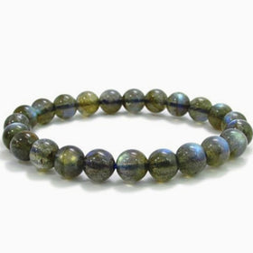 Labradorite Power Bracelet for Protection and Success-8mm - New Earth Gifts