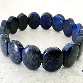 Lapis Double Drilled Beaded Bracelet - New Earth Gifts