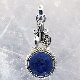 Denim Lapis Bezel pendant  | New Earth Gifts
