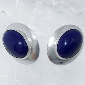 Lapis Lazuli Sterling Silver Stud Earrings - New Earth Gifts