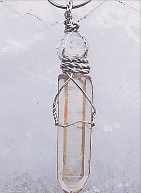 Lemurian & Herkimer Diamond Pendant For The Soul | New Earth Gifts