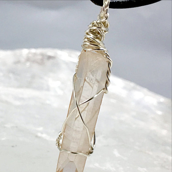 Lemurian Seed Crystal Wired Pendant | New Earth Gifts
