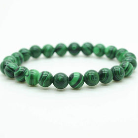 Malachite Power Bracelet for Transformation-6mm - New Earth Gifts