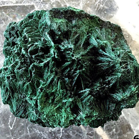 Malachite Fibrous Specimen for Mineral Collectors - New Earth Gifts