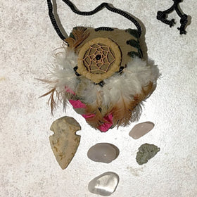 Medicine Bag with Stones - New Earth Gifts and Beads