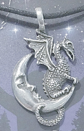 Celestial Pewter Pendant-Midnight Dragon | New Earth Gifts