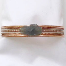 Moldavite Copper Bangle Bracelet - new earth gifts