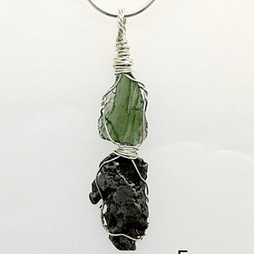 Moldavite and Meteorite Pendant Creation | New Earth Gifts